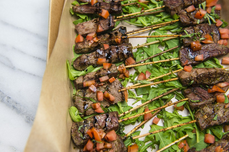 Basil Pesto Steak Skewers